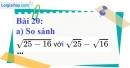 Bài 20 trang 21 Vở bài tập toán 9 tập 1