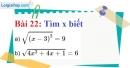 Bài 22 trang 23 Vở bài tập toán 9 tập 1