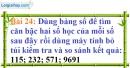 Bài 24 trang 25 Vở bài tập toán 9 tập 1