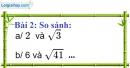 Bài 2 trang 7 Vở bài tập toán 9 tập 1