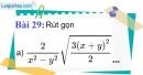 Bài 29 trang 29 Vở bài tập toán 9 tập 1