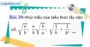 Bài 30 trang 31 Vở bài tập toán 9 tập 1