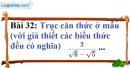 Bài 32 trang 33 Vở bài tập toán 9 tập 1