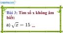 Bài 3 trang 7 Vở bài tập toán 9 tập 1