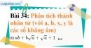 Bài 34 trang 35 Vở bài tập toán 9 tập 1