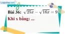 Bài 36 trang 36 Vở bài tập toán 9 tập 1