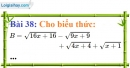 Bài 38 trang 37 Vở bài tập toán 9 tập 1