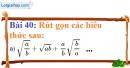 Bài 40 trang 39 Vở bài tập toán 9 tập 1