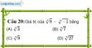 Phần câu hỏi bài 9 trang 42 Vở bài tập toán 9 tập 1