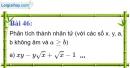 Bài 46 trang 44 Vở bài tập toán 9 tập 1