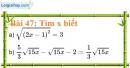 Bài 47 trang 45 Vở bài tập toán 9 tập 1