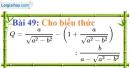 Bài 49 trang 48 Vở bài tập toán 9 tập 1