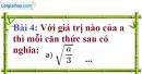 Bài 4 trang 9 Vở bài tập toán 9 tập 1