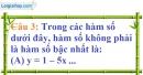 Phần câu hỏi bài 2 trang 55 Vở bài tập toán 9 tập 1
