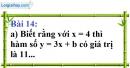 Bài 14 trang 62 Vở bài tập toán 9 tập 1