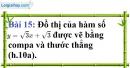 Bài 15 trang 64 Vở bài tập toán 9 tập 1