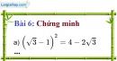 Bài 6 trang 10 Vở bài tập toán 9 tập 1