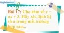 Bài 17 trang 66 Vở bài tập toán 9 tập 1