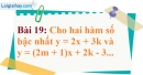 Bài 19 trang 67 Vở bài tập toán 9 tập 1
