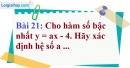 Bài 21 trang 69 Vở bài tập toán 9 tập 1
