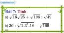 Bài 7 trang 11 Vở bài tập toán 9 tập 1