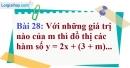 Bài 28 trang 76 Vở bài tập toán 9 tập 1