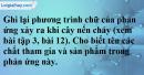 Câu 3 phần bài tập học theo SGK – Trang 44 Vở bài tập hoá 8