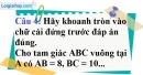 Phần câu hỏi bài 2 trang 90 Vở bài tập toán 9 tập 1