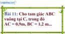 Bài 11 trang 90 Vở bài tập toán 9 tập 1