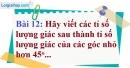Bài 12 trang 91 Vở bài tập toán 9 tập 1