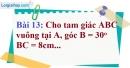 Bài 13 trang 91 Vở bài tập toán 9 tập 1