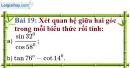 Bài 19 trang 93 Vở bài tập toán 9 tập 1