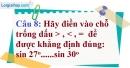 Phần câu hỏi bài 3 trang 94 Vở bài tập toán 9 tập 1