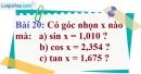 Bài 20 trang 94 Vở bài tập toán 9 tập 1