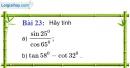 Bài 23 trang 95 Vở bài tập toán 9 tập 1