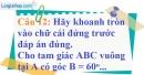 Phần câu hỏi bài 4 trang 98 Vở bài tập toán 9 tập 1
