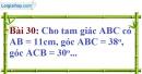 Bài 30 trang 99 Vở bài tập toán 9 tập 1