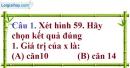 Đề kiểm tra 45 phút chương 1 phần Hình học 9 - Đề số 1