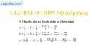 Bài 10 : Hỗn số (tiếp theo)