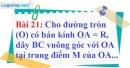 Bài 21 trang 125 Vở bài tập toán 9 tập 1