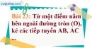 Bài 23 trang 128 Vở bài tập toán 9 tập 1