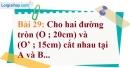 Bài 29 trang 134 Vở bài tập toán 9 tập 1