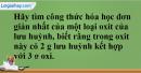 Câu 1 phần bài tập học theo SGK – Trang 84 Vở bài tập hoá 8