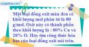 Câu 4 phần bài tập học theo SGK – Trang 74 Vở bài tập hoá 8