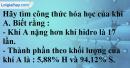Câu 5 phần bài tập học theo SGK – Trang 74 Vở bài tập hoá 8