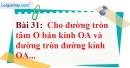 Bài 31 trang 135 Vở bài tập toán 9 tập 1