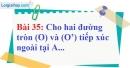 Bài 35 trang 137 Vở bài tập toán 9 tập 1