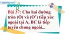 Bài 37 trang 140 Vở bài tập toán 9 tập 1