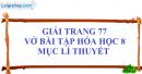 Mục lý thuyết (Phần học theo SGK) - Trang 77
