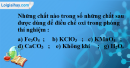 Câu 1 phần bài tập học theo SGK – Trang 99 Vở bài tập hoá 8